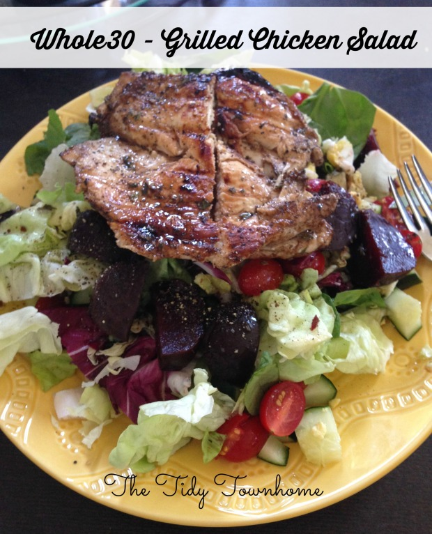 Whole 30 grilled chicken salad