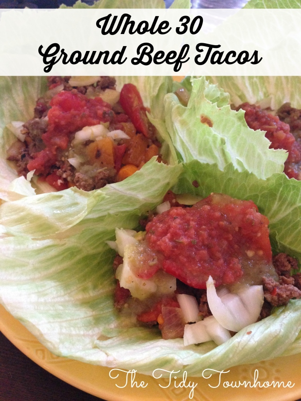 Whole 30 Ground Beef Tacos