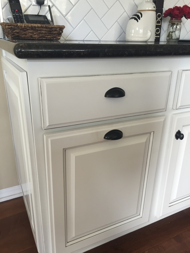 Pull out hidden kitchen trashcan